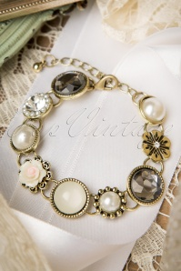40s Phoebe Gems and Pearls Bracelet
