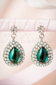 20s Emerald Green Drop Earrings
