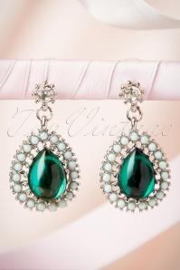20s Emerald Green Drop Earrings