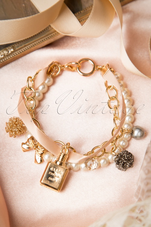 From Paris with Love! Postal White Pearl Parfume Bottle Bracelet 311 51 17413 20151119 206W