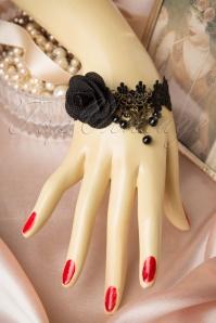 Florence Lace Bracelet Années 1920 en Noir