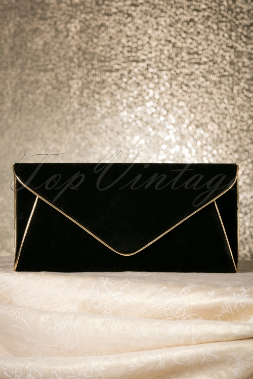 La Parisienne Black Envelop Clutch 211 10 17604 11232015 015W