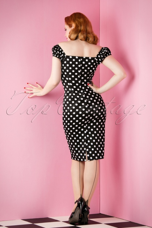 7b9f92f0c0f Collectif Black Dress with White Dots 10249 20151118 014W
