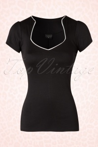 Steady Clothing Piped Sophia Tee In Black 111 10 17049 20151123 0004W