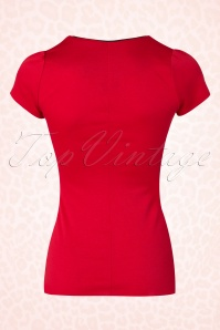 Steady Clothing Piped Sophia Tee In Red 111 20 17050 20151123 0006W