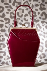 50s To Die For Handbag In Burgundy
