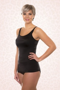 10LC Luxury Camisole Black (front)