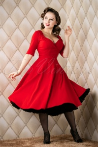Collectif Clothing red trixie doll swing dress  102 20 14342 20151118 018W