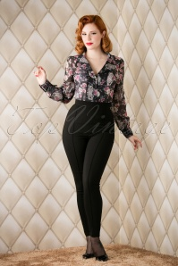 50s Hayworth Trousers in Black