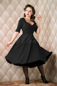 Collectif Clothing Trixie Doll Dress Black 14338 20151118 018W