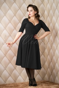 50s Trixie Doll Swing Dress in Black