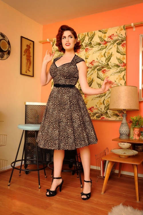 2d71b4519f9c1 Pinup Couture Heidi Leopard Swing Dress 102 79 17490 2