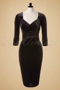 Vintage Chic Black Velvet Pencil Dress 100 10 17279 20151125 0004pop