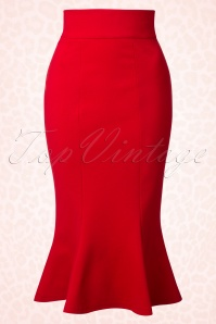 Heart of Haute Diva Red Fishtail Skirt 120 20 17025 20151130 0007W