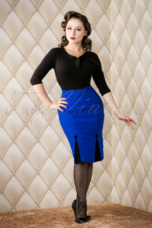 Vixen Blue Pencil Skirt 120 30 16292 20151118 005W