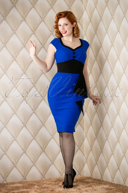 Vixen Blue Pencil Dress 100 30 16312 20151118 011W