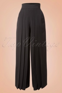 40s Elsie Trousers in Black
