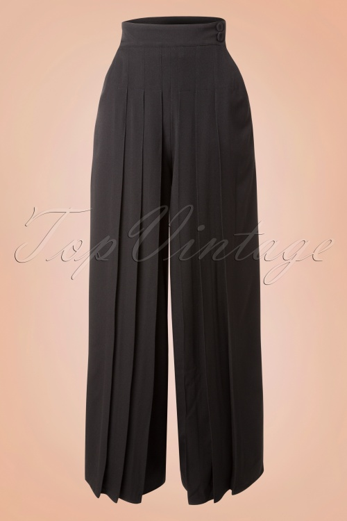 Miss Candyfloss Black Loose Trousers 131 10 16253 20151130 0008W