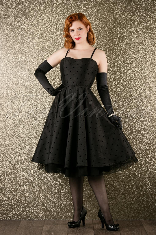 50s Isabella Prom Dress in Black