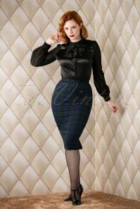 Bunny Jodie Dublin Tart Check Blue Green Pencil Skirt 120 39 16740 20151118 011W