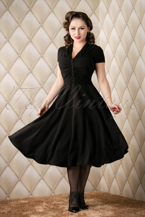 Bunny Rosina Burgundy Swing Dress Black 102 10 16736 20151118 010W