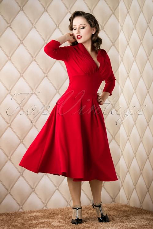 Red Swing Dress
