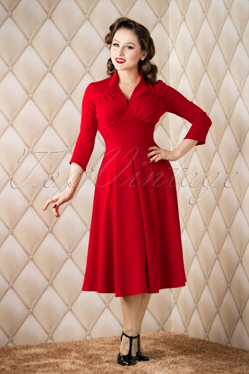 Miss Candyfloss 50s Vedette Red Swing Dress 11223 20151118 002W