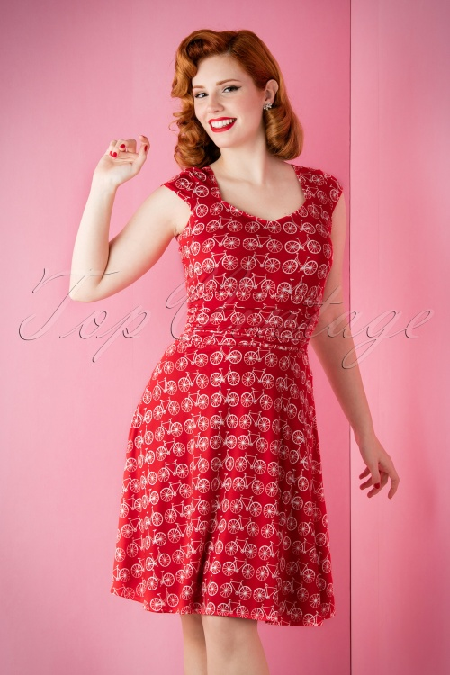 Retrolicious Red Bicycle Dress 13216 20151118 006cW