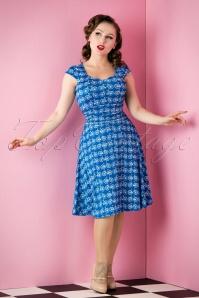 Bicycle Dress Royal Blue