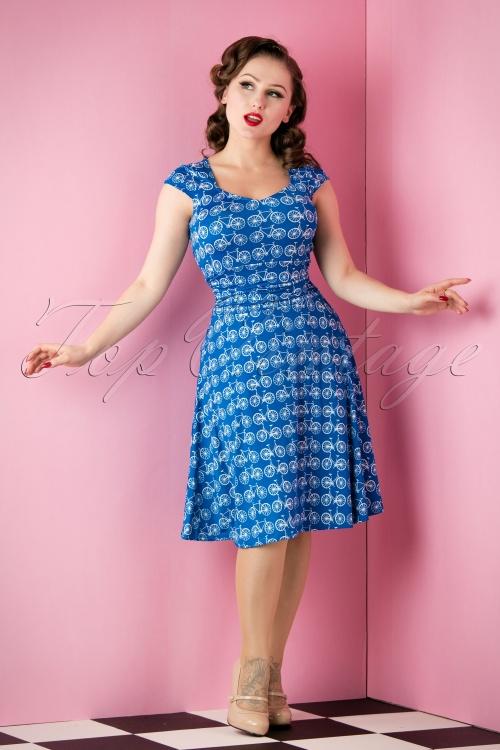 Retrolicious Blue Bicycle Dress 10513 20151118 008W