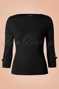 50s Addicted Top in Black