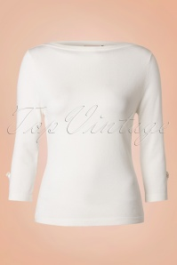 50s Addicted Sweater in Ivory