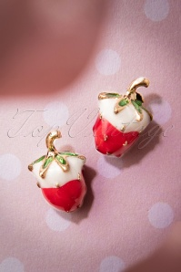 My Tasty Strawberry Earrings Années 1960