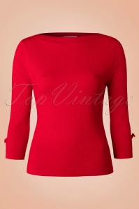 50s Addicted Sweater in Red