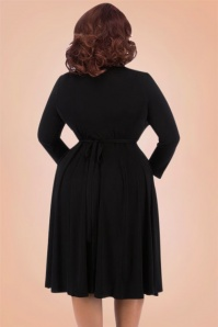 Lady Voloptuous 50s Black Lyra Dress 17465 2