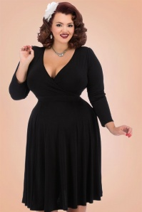 Lady Voloptuous 50s Black Lyra Dress 17465 1