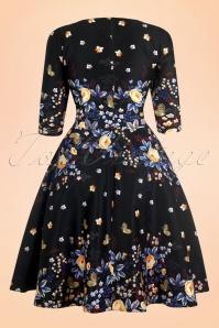 Lady V Winter Butterfly Black Floral Dress 102 14 17290 20151120 008W
