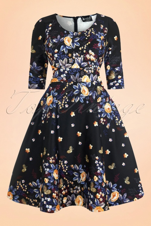 Lady V 50s Winter Butterfly Dress Swing Dress 17467 1W
