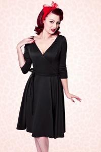 Heart of Haute Donna Bow Longsleeve Swing Dress 102 20 17016 1
