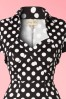 Lindy Bop Zsa Zsa Black Pencil Bolero Polkadot Dress 100 14 17603 20151203 0002V