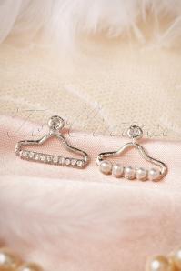 60s Silver Hanger Earrings