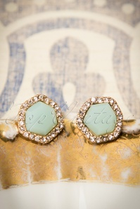 30s Juliette Classy Mint Earrings