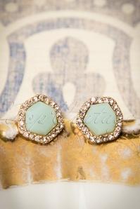 30s Juliette Classy Mint Earrings