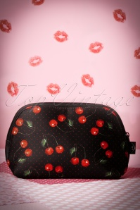 50s Black Cherry Make-up Bag