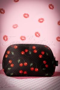 Cherry Make-up Bag Années 1950 en Noir