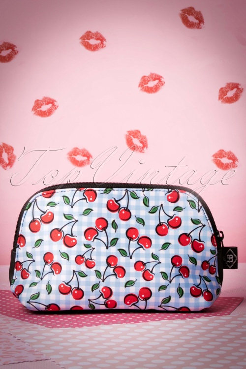 Sassy Sally Blue Cherry Make Up Bag 218 39 17512 20151203 003W