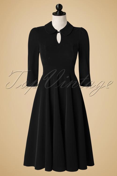 Hearts and Roses Glamoures Black Velvet Dress 102 20 17660 20151208 0009pop