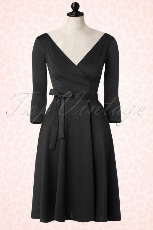 Heart of Haute Donna Bow Longsleeve Swing Dress 102 20 17015 20151203 0007pop