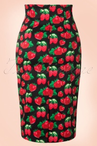 Dolly and Dotty Black Strawberry Pencil Skirt 120 14 17228 20151209 0009W