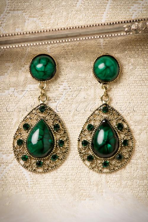 Celestine Green Stone Earrings 17685 12092015 004W